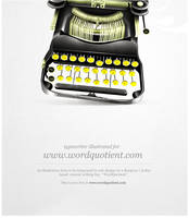Typewriter illustration by freakyframes