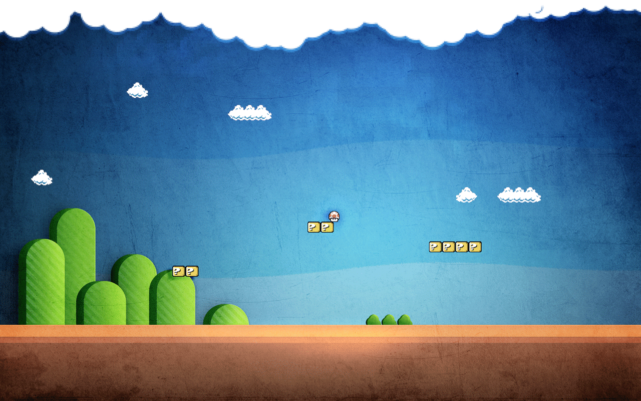 Super Mario Wallpaper by freakyframes