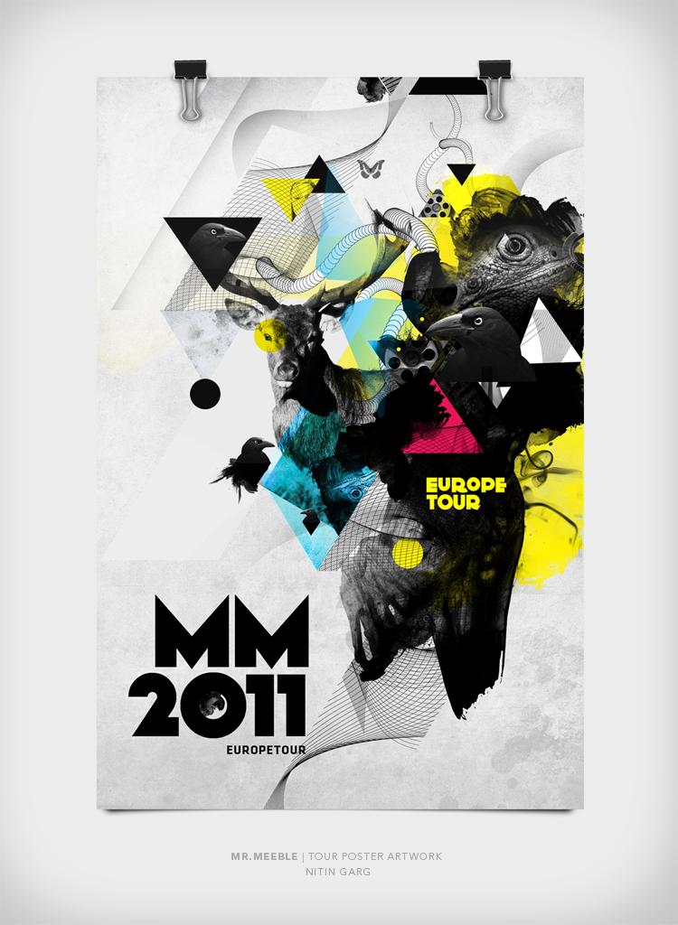 Mr Meeble Tour Poster Artworks
