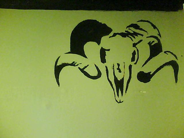 Ram Stencil by MutilatedEnigma