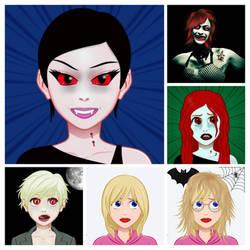 vampiress collage by dukenemo