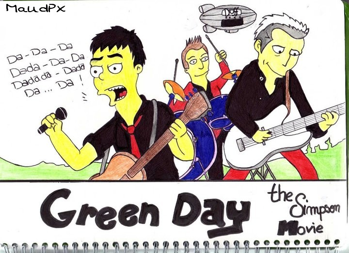 Green Day on Simpson movie by Maudpx on DeviantArt
