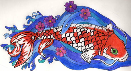 Koi Fish by Maudpx