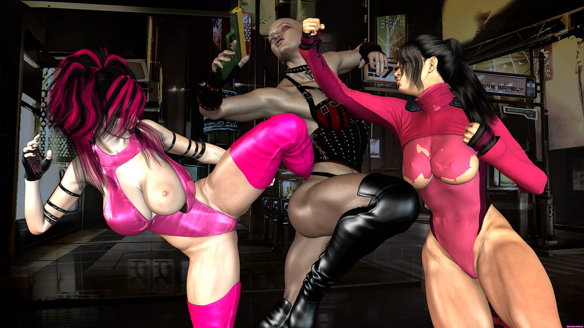 Blackraven Versus Domina Versus Alicia by DreamCandice