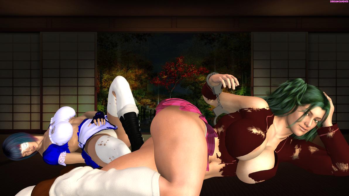Ikkitousen : Housen Ryofu and Shimei Ryomou by DreamCandice