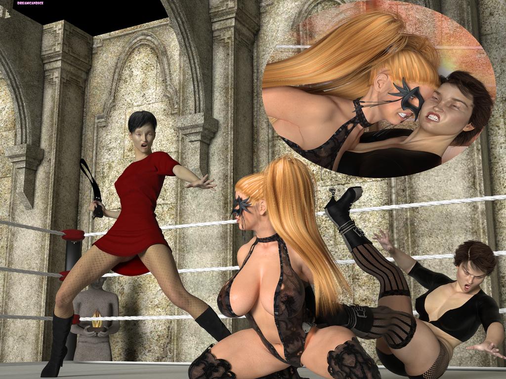 Rainbow Mika Versus Sarah/Kyndra Gothic Match (4) by DreamCandice