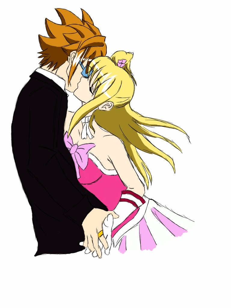 Loke x Lucy kiss   by TerrifyingTurtleNeckFairy Tail Lucy And Loke Kiss