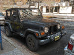 Jeep with Gold Licence Plate