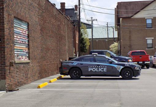Police Parking Lot Lafayette IN