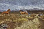 Two Unicorns in Utah by Chlodulfa