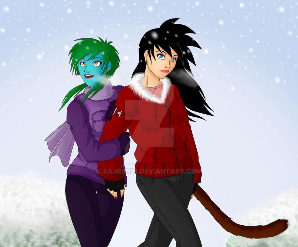 Luna and Rina by Sajren91
