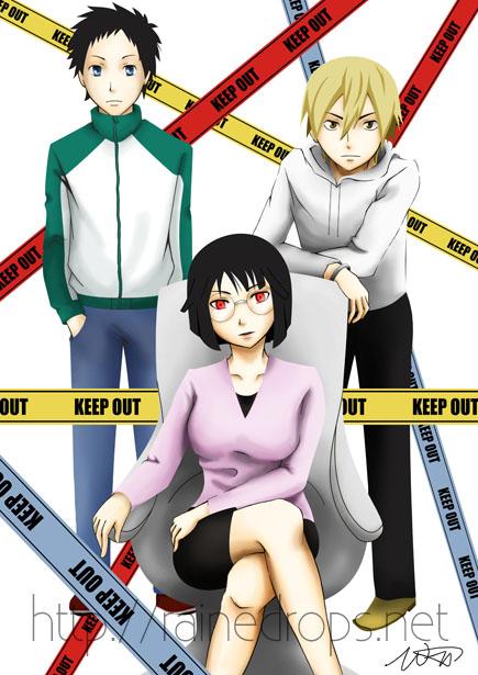 DRRR: Mikado, Anri, Masaomi by Rainedrops