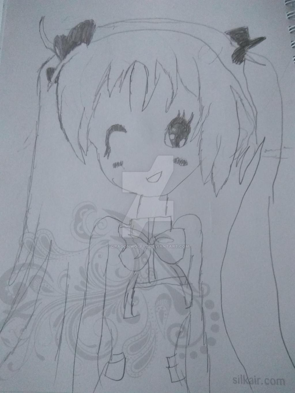 First Anime Drawing by Dragonwolfyz