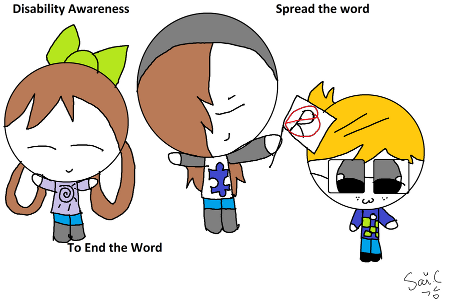 Spread the word to end the word by Borsaline-Tresbien