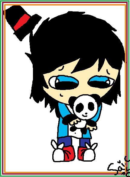 Blue Panda by BangieCreatorGirl