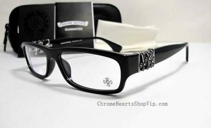 Full Frame Chrome Hearts Below Me BK Eyeglasses