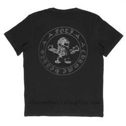 Black Harris Teeter Chrome Hearts Short Shirt