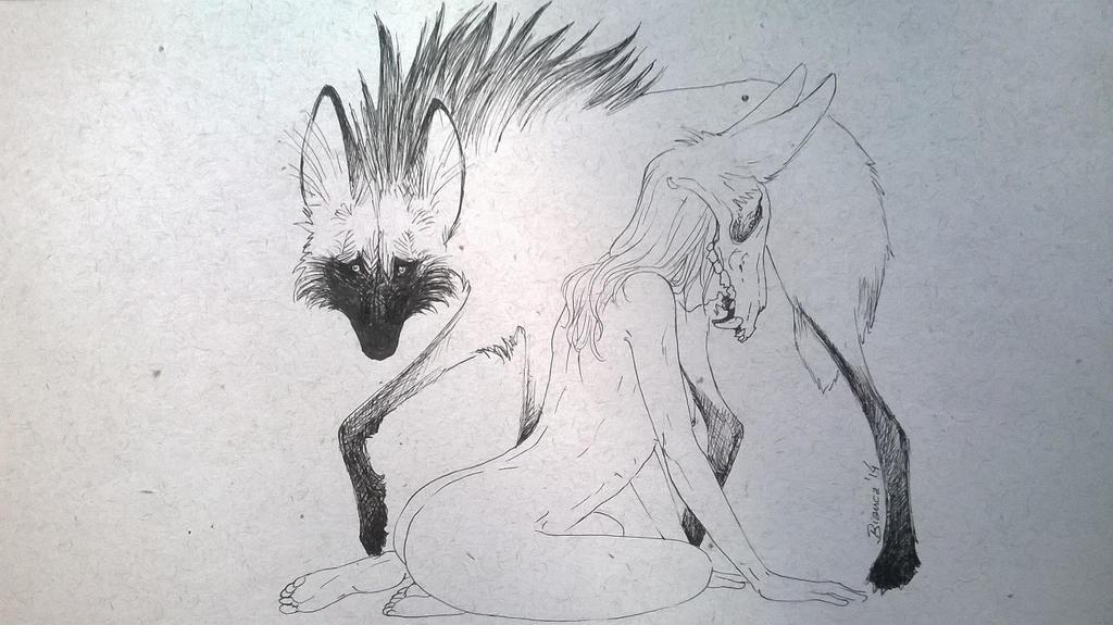 Chrysocyon brachyurus by MukuroY