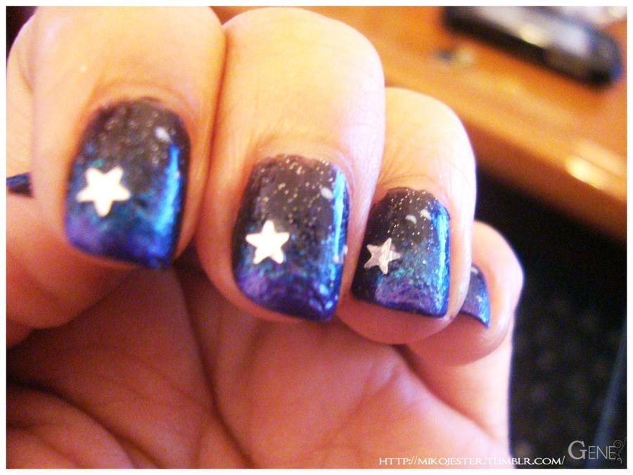 Nail art galaxy by G3N3 on DeviantArt