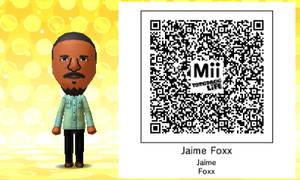 Mii QR Code - Jamie Foxx