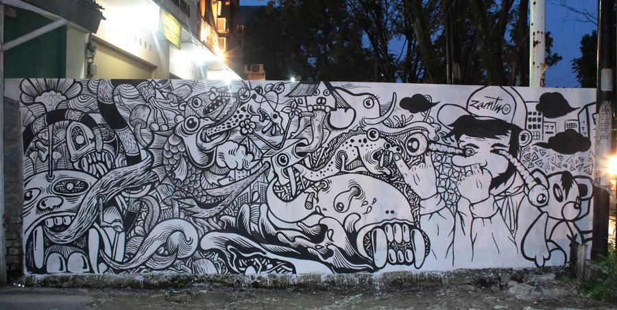 Gatsu menggila by asepwahyu78 on deviantart for Mural hitam putih
