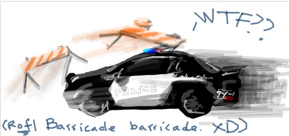 Barricade vs. barricade by D34tHn0Te