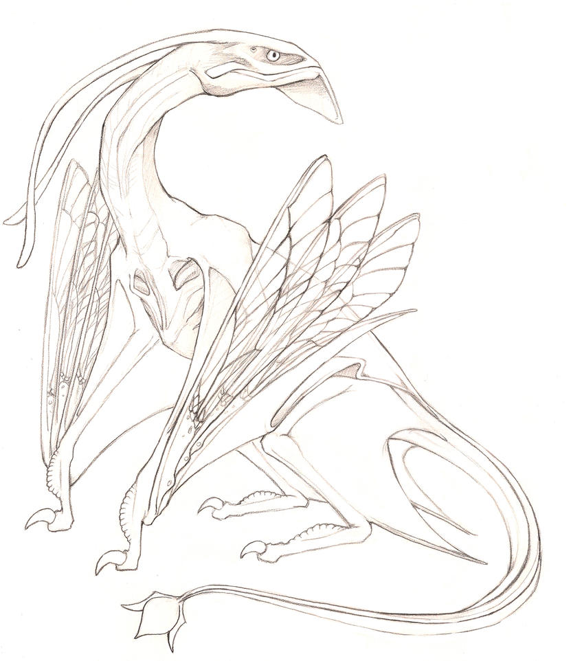 Avatar Movie Coloring Pages: Banshee Avatar Movie Coloring Pages Sketch Coloring Page