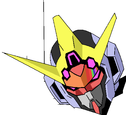 Rainbow Gundam head by bloodblader