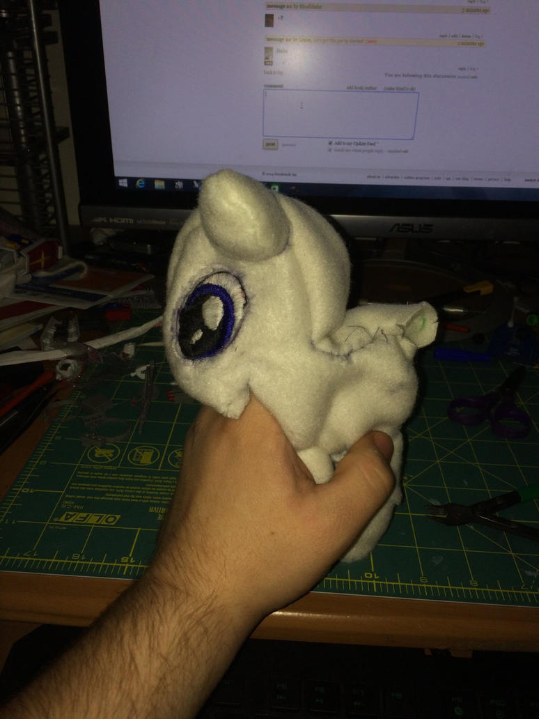 Blades knight work in progress plushy  by bloodblader