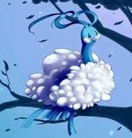 [Pokecember] Cotton Bird by brainlessbunny
