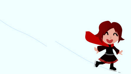 Ruby Rose ice skating minimalist wallpaper