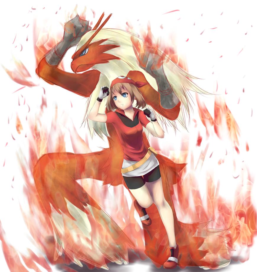 pokemon__may_and_blaziken_by_midorisprit