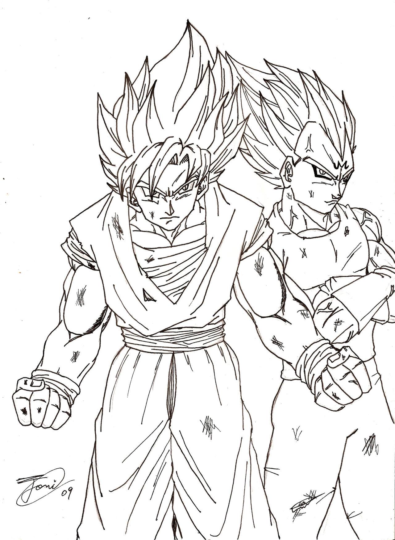 Coloring Page Vs Dragon Ball Z