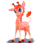 Giraffe by AClockworkKitten