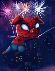 The Spectacular Spider-Ham by AClockworkKitten