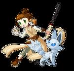 Pokemon Trainer Rey by AClockworkKitten