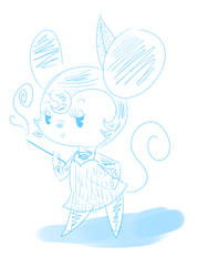 Flapper Minnie Sketch