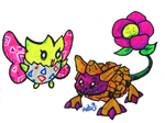 Flower Pokes and Digis