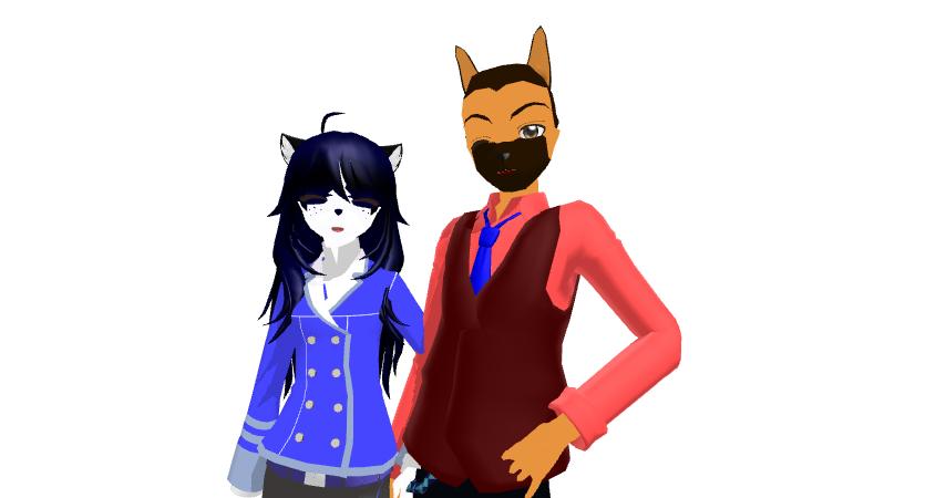MMD Agatha and Wallace WIP by Nanashione