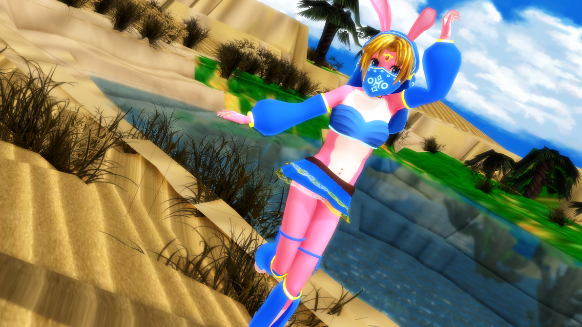 Belly Dancer Bunny Link 2 by Nanashione