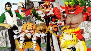 Six Fanarts: Tigers