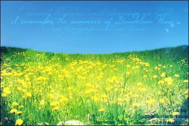 Dandelion Wine by larme-d-apache