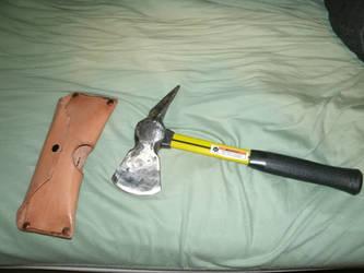 Ball-peen hammer tomahawk by Johnithan