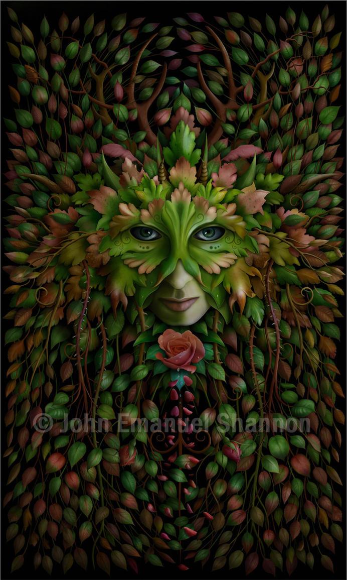 Green Woman by jeshannon on DeviantArt