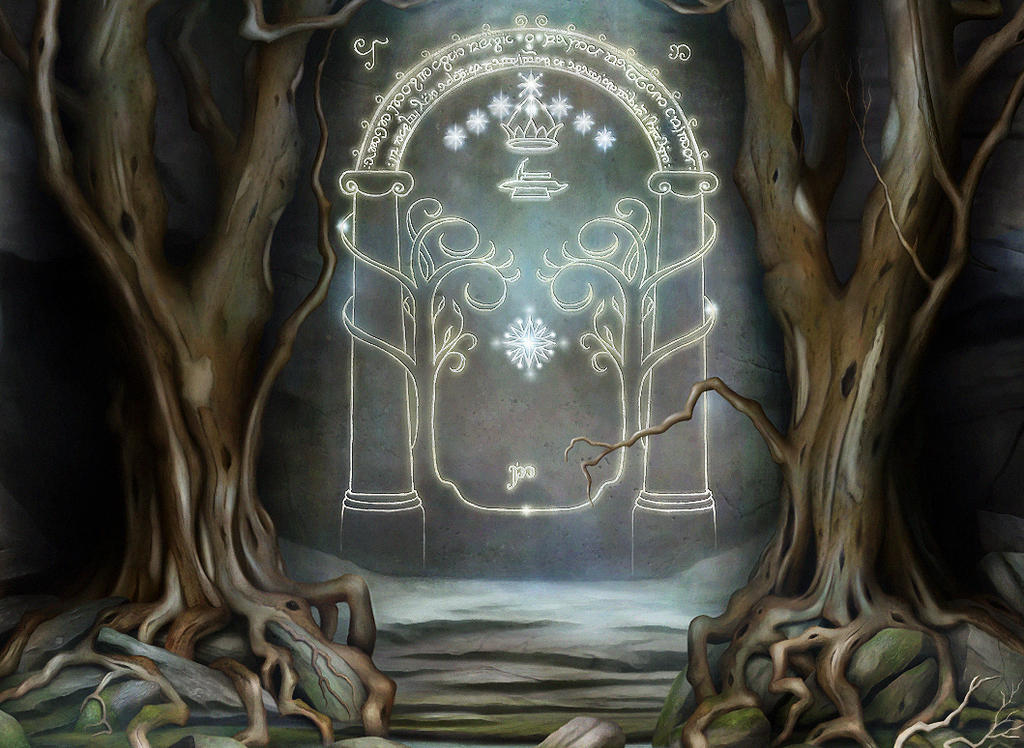 The Doors of Moria Detail by jeshannon