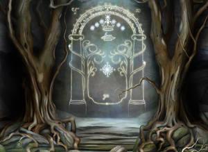 The Doors of Moria Detail