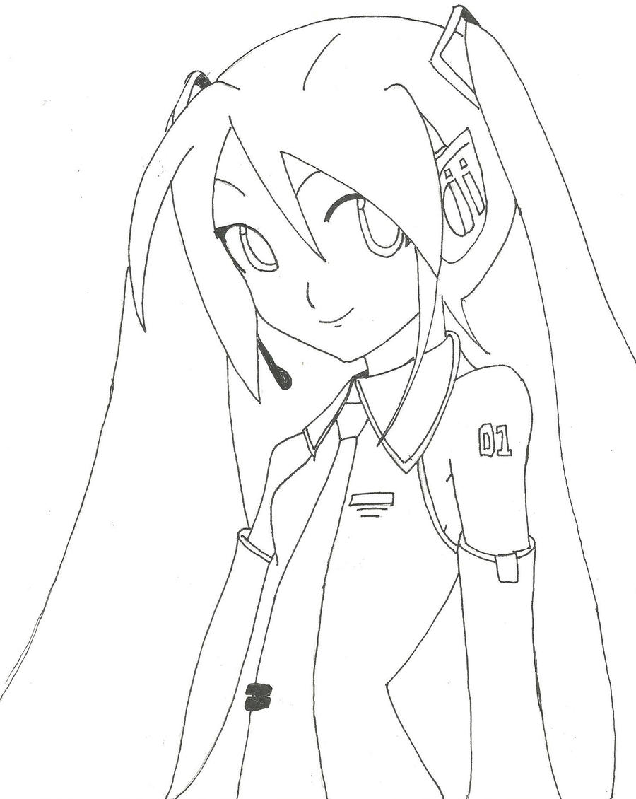 Miku Hatsune Dibujo Para Colorear Imagui