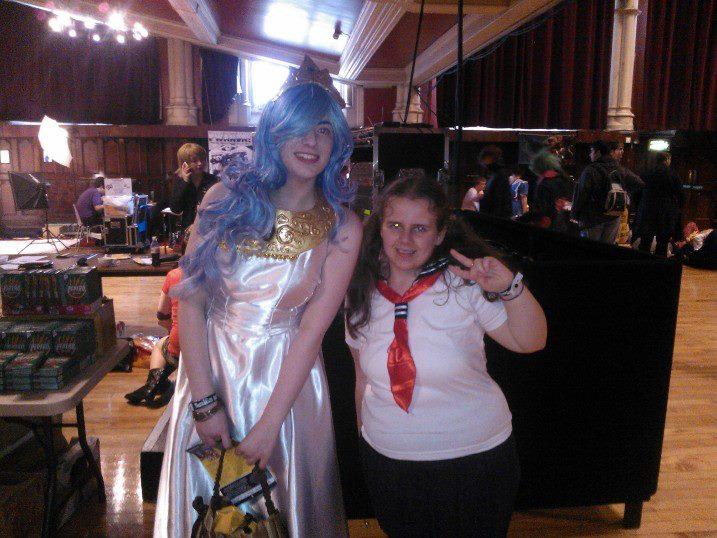 Me with Princess Celestria ^w^ by OtakuRhi