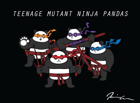 Teenage Mutant Ninja Pandas