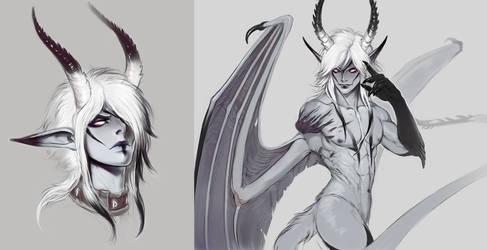 AU Demon Craven Stuff by AltaGrin